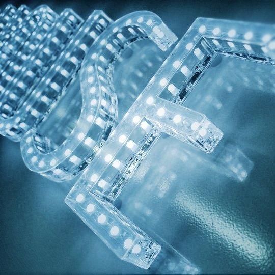 Lysdiod LED skylt