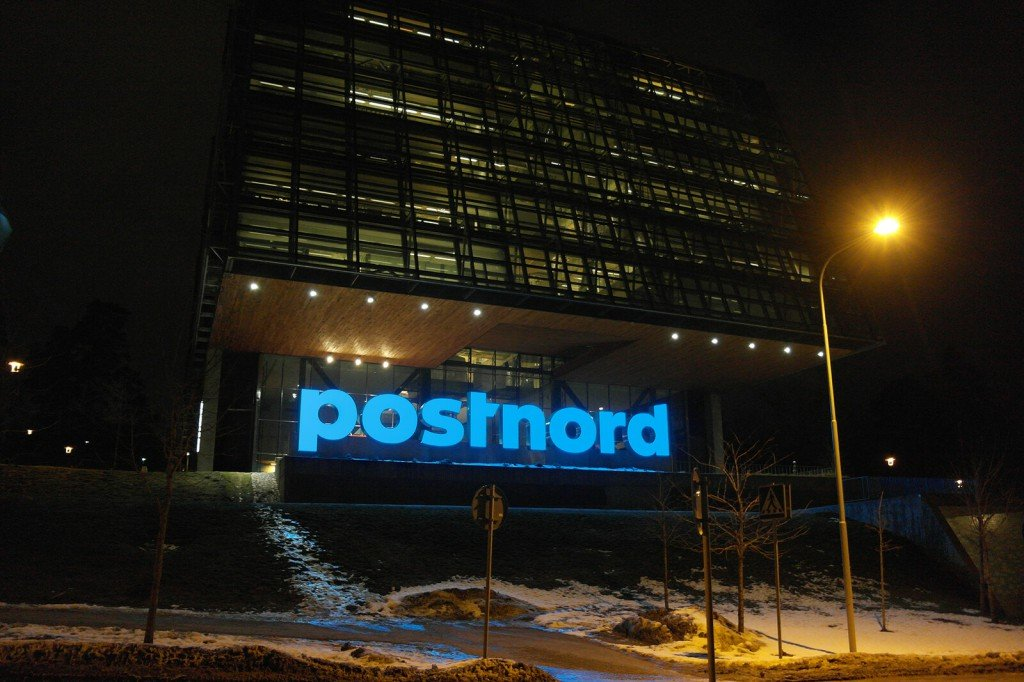 PostNord Huvudkontor Solna LED-bokstäver
