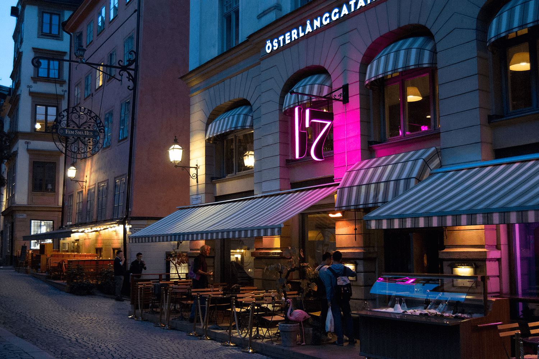 Österlånggatan 17 restaurangskylt RGB