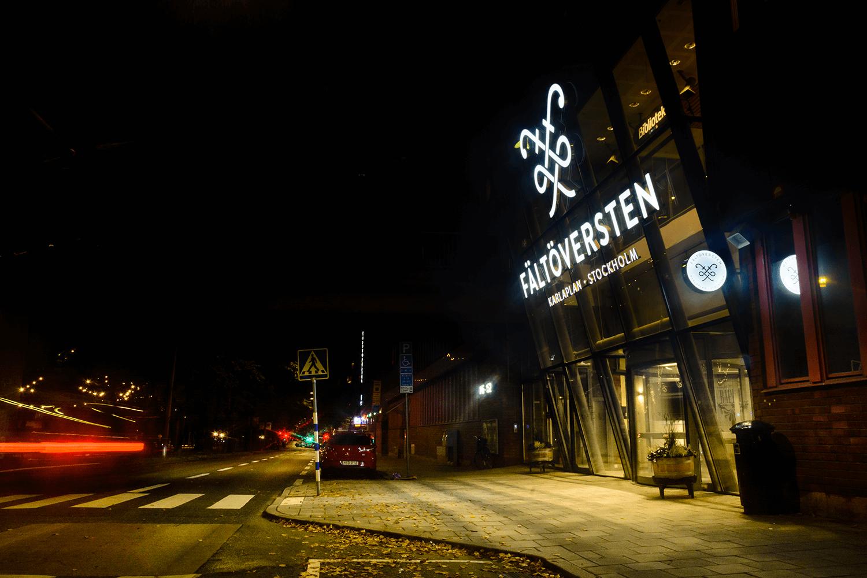 Fältöversten Stockholm LED-bokstäver